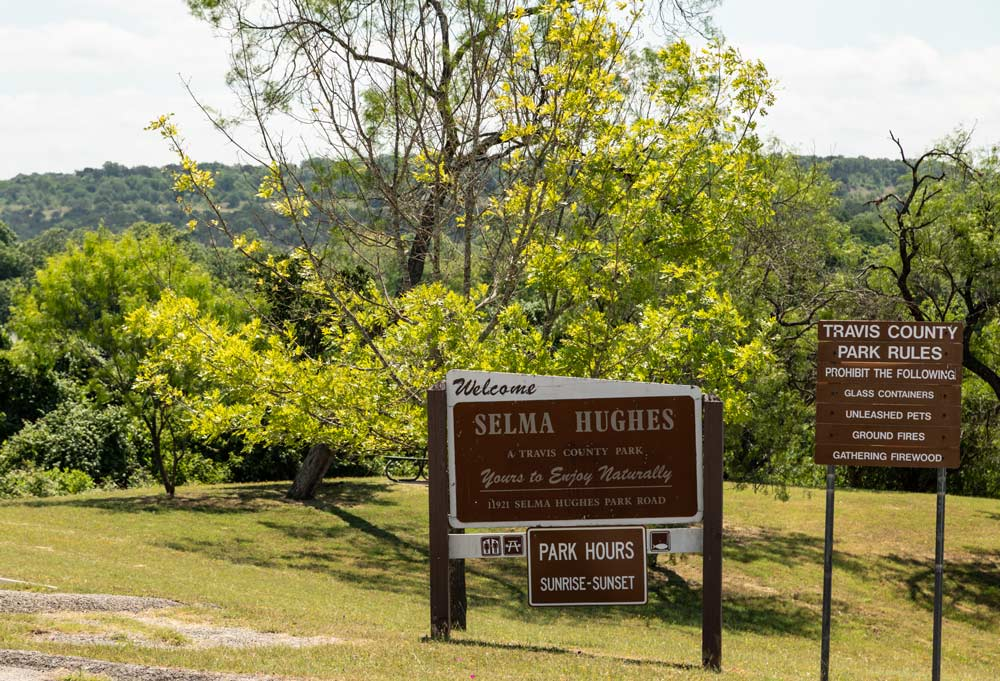 selma hughes welcome sign by tom hausler